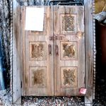 Antique cabinet doors used to make wood window shutters