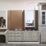 Bath cabinets with carving