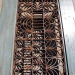 Coffee table antique grillwork detail