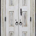 Carved bath doors back