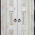 Carved bathroom doors front