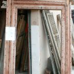 Antique door surround used to make custom mirror