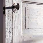 Antique interior doors hardware detail