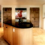 Pair of custom double pantry doors made with antique Mexican doors