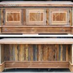 The original natural rustic finish of the buffet