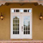 Custom French entry doors