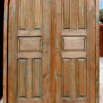 Custom door made with antique Mexican doors