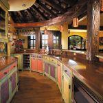 Custom tropical bar cabinets