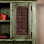 Detail of custom kitchen hutch