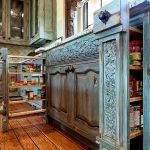 Pull-out pantry cabinets installation photo
