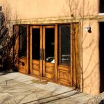 French doors with sidelights and astragal