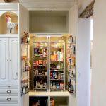 Auto-lit custom pantry cabinet