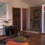 Custom front door with shutter