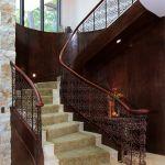 Custom winding stair rail