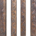 Antique Honduran carved columns used in bar cabinets