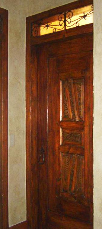 Powder Room Door With Carved Panels La Puerta Originals