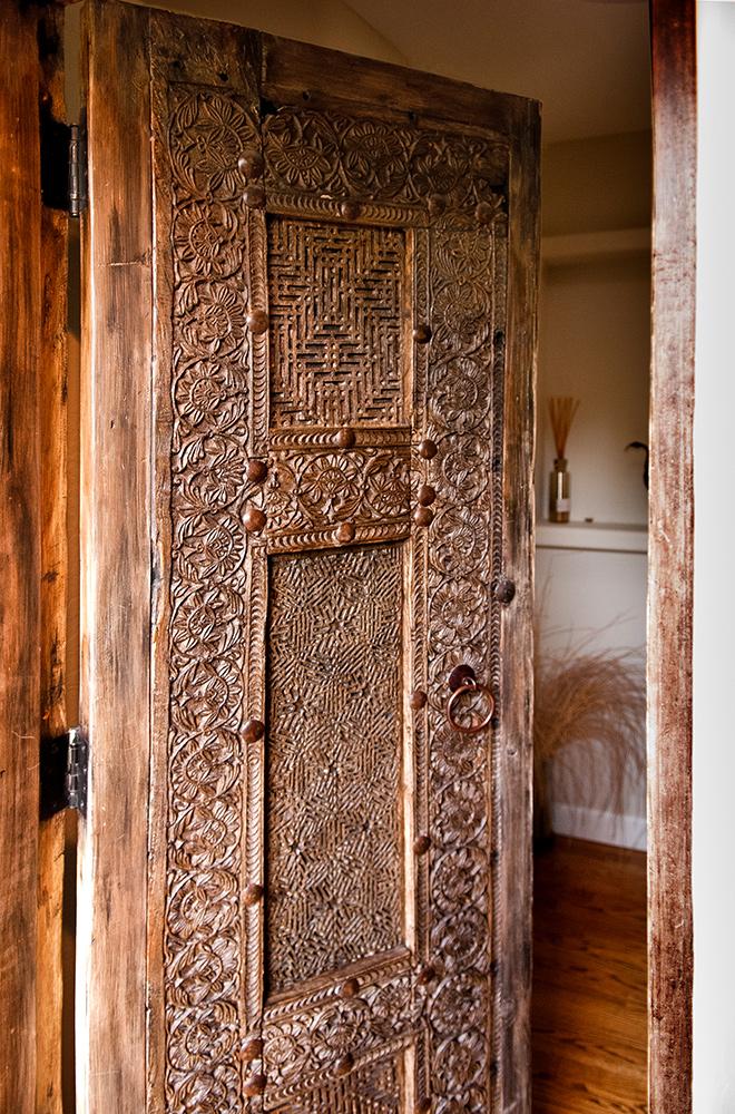 Carved Powder Room Door La Puerta Originals