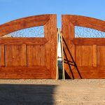 Wooden entry gates