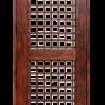 Solid wood security door