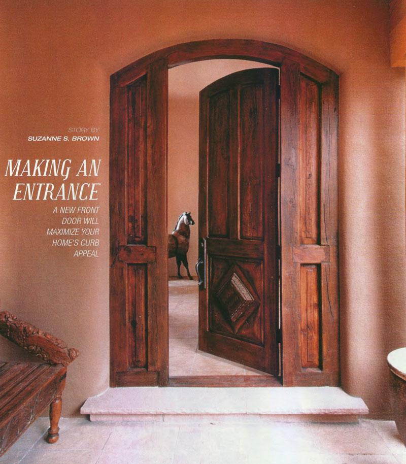 Making An Entrance Mountain Living La Puerta Originals
