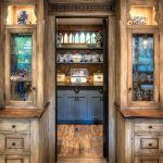 Pass-thru kitchen cabinet