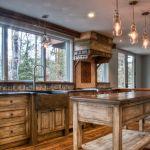 Custom kitchen cabinets and stove hood