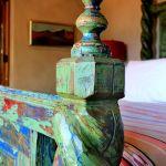 Finial detail on custom bed