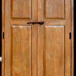 Double closet doors front