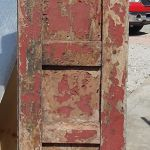 Back of antique Mexican door