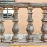 Antique columns used to accent reproduction Mexican bar