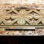 Hand carved panels for cabinet doors on reproduction Mexican bar
