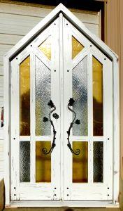 Peaked front door