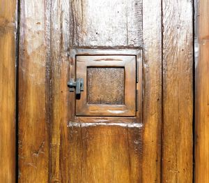 Front entry with peep door