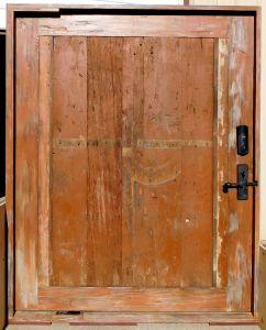 Custom pivoting front door