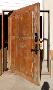 Pintle hinged front door