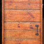 Salvaged wood door back