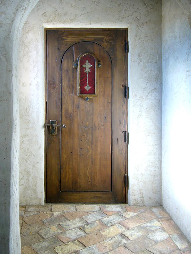 ... Back of chapel door & Door with Clavos and Strapping - La Puerta Originals