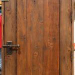 Back of door made with reclaimed Douglas fir and antique woods