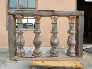 Antique balcony rail