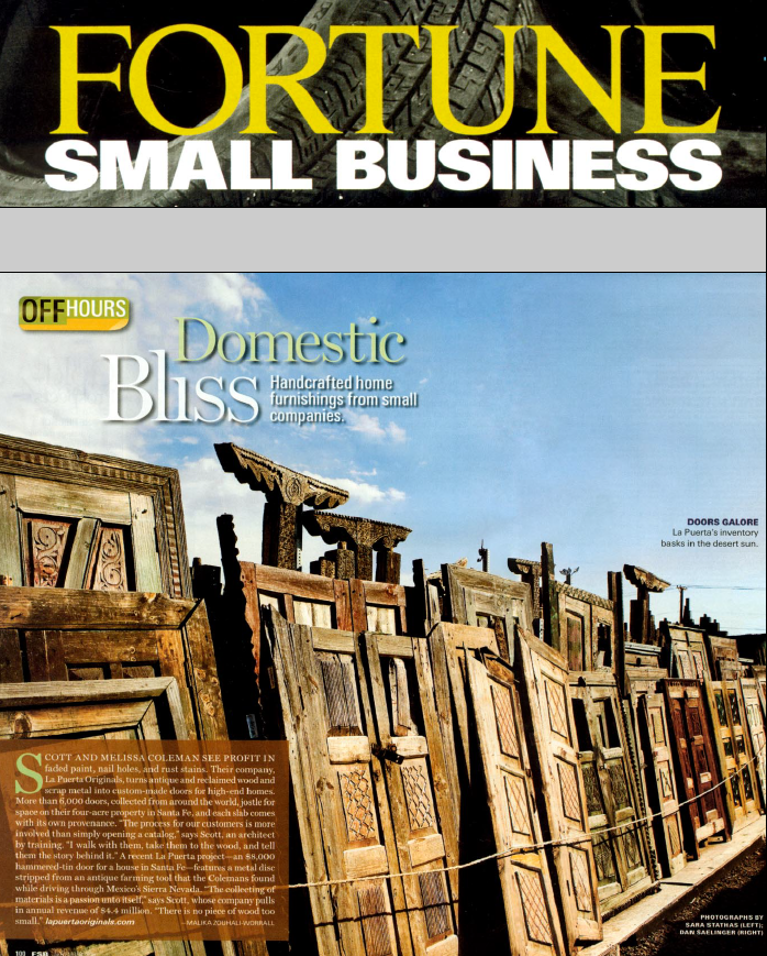 Fortune Small Business Magazine article