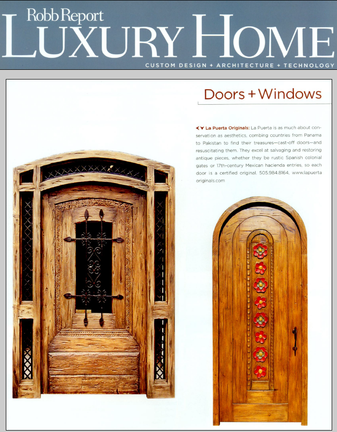 Robb Report Luxury Home Magazine article