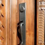 Entry set with thumb latch and deadbolt