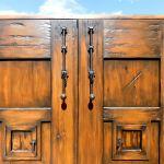 Detail of door with double peeps