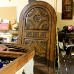arched door in finish shop