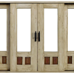 Double sliding doors with sidelights
