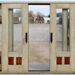 Detail of double sliding doors when open
