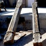 Antique carved columns