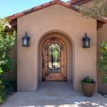 Custom arched front entry