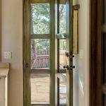 Custom green door with screen door