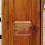 Back of antique Egyptian door